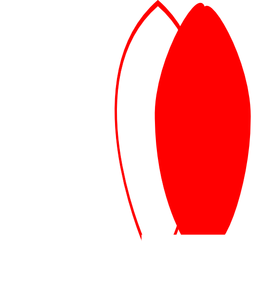 552x600 Red Clipart Surfboard