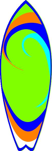 204x588 Surfboard Clip Art