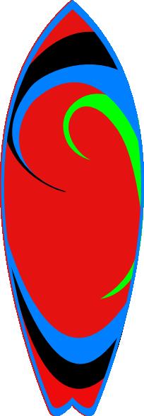 204x587 Surfboard Clipart Transparent
