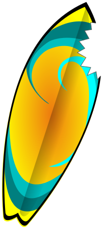 220x458 Yellow Clipart Surfboard