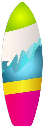 174x500 Hawaii Surfboards Clip Art Set 12 Digital Surf Boards. Digital