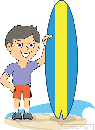 403x550 Surfing Clipart Clipart Surfer Standing Next To Surfboard