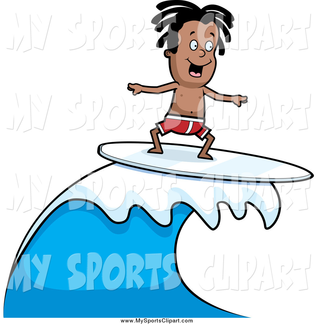 1024x1044 Sports Clip Art Of A Black Surfer Dude Riding A Wave By Cory
