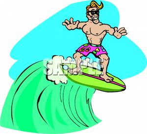 300x274 Surfer Clipart Surfer Dude