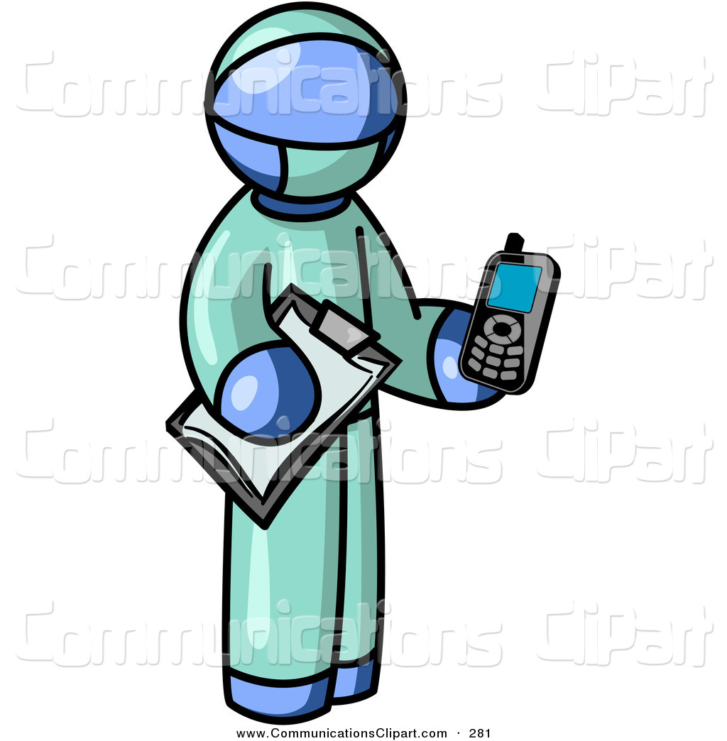 1024x1044 Communication Clipart Of Blue Surgeon Doctor Man Holding
