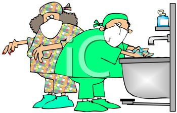 350x224 Doctors Scrubbing Up For Surgery
