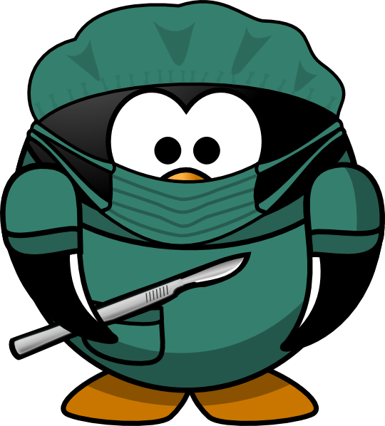 540x598 Penguin Surgeon Clip Art