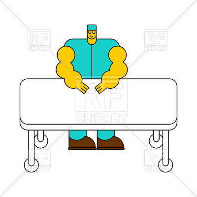 400x400 Surgeon And Operating Table. Doctor