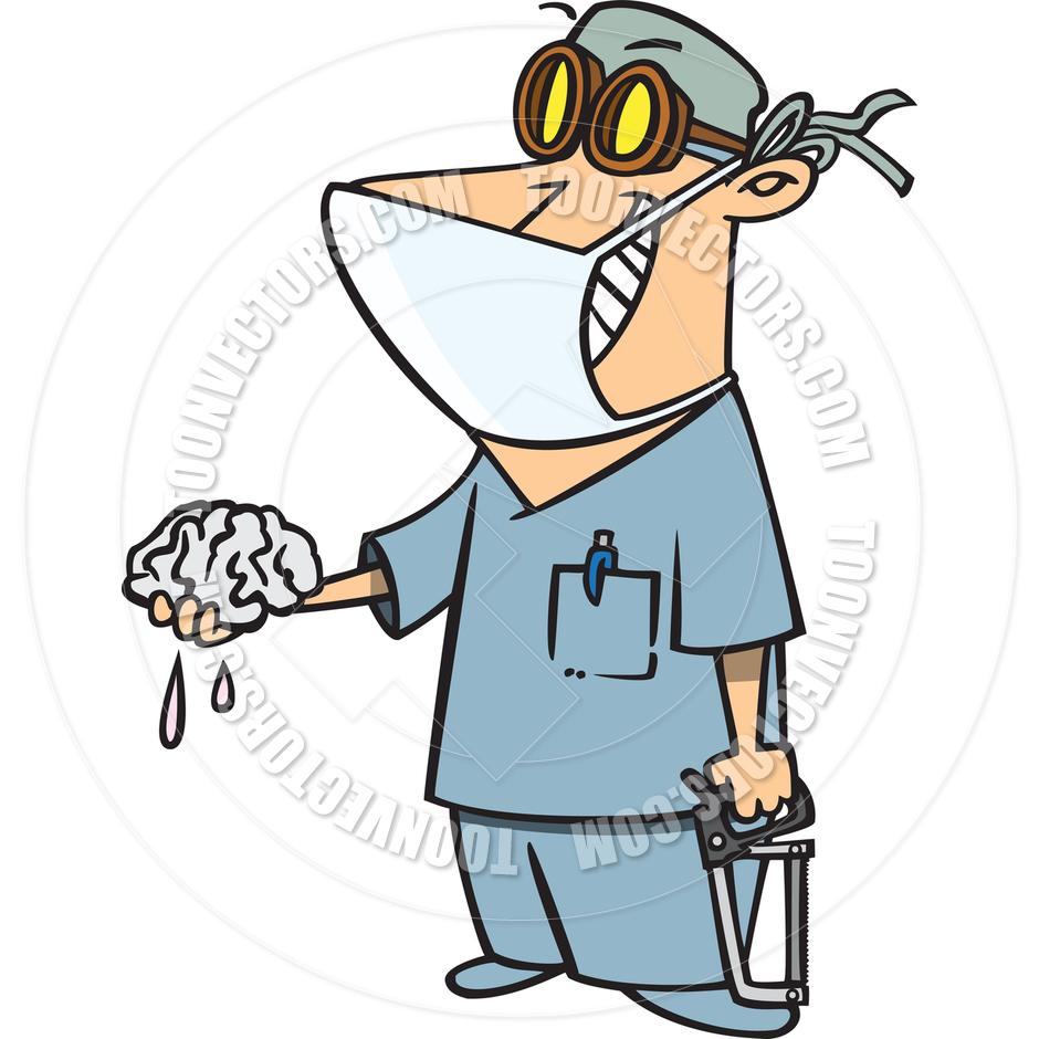 940x940 Cartoon Brain Surgeon By Ron Leishman Toon Vectors Eps