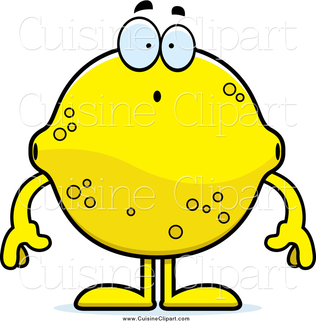 1024x1044 Cuisine Clipart Of A Surprised Lemon Character By Cory Thoman