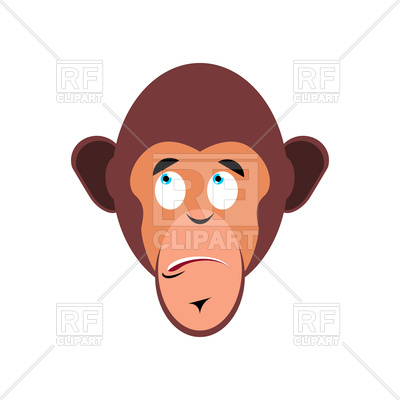 400x400 Monkey Surprised Emoji Royalty Free Vector Clip Art Image