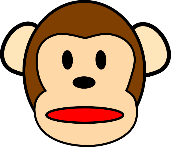 600x516 Chimpanzee Surprised Clip Art