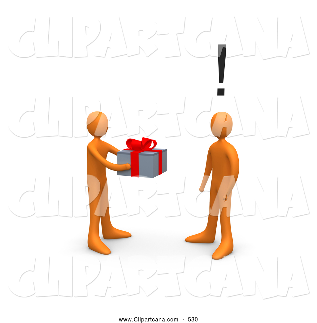1024x1044 Cliprt Of Caring Orange Person Handing Present