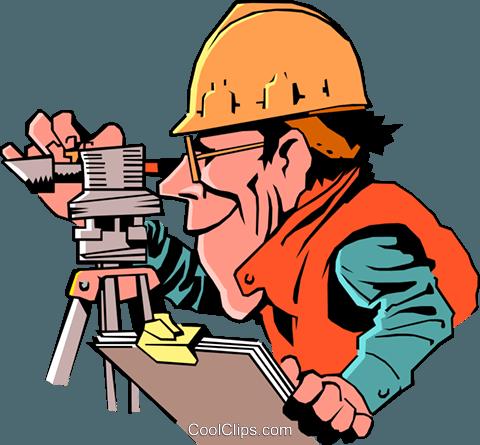480x445 Cartoon Surveyor Royalty Free Vector Clip Art Illustration
