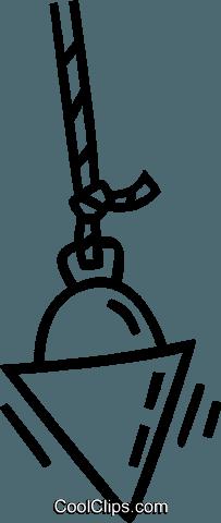 203x480 Plumb Bob Royalty Free Vector Clip Art Illustration Vc038843