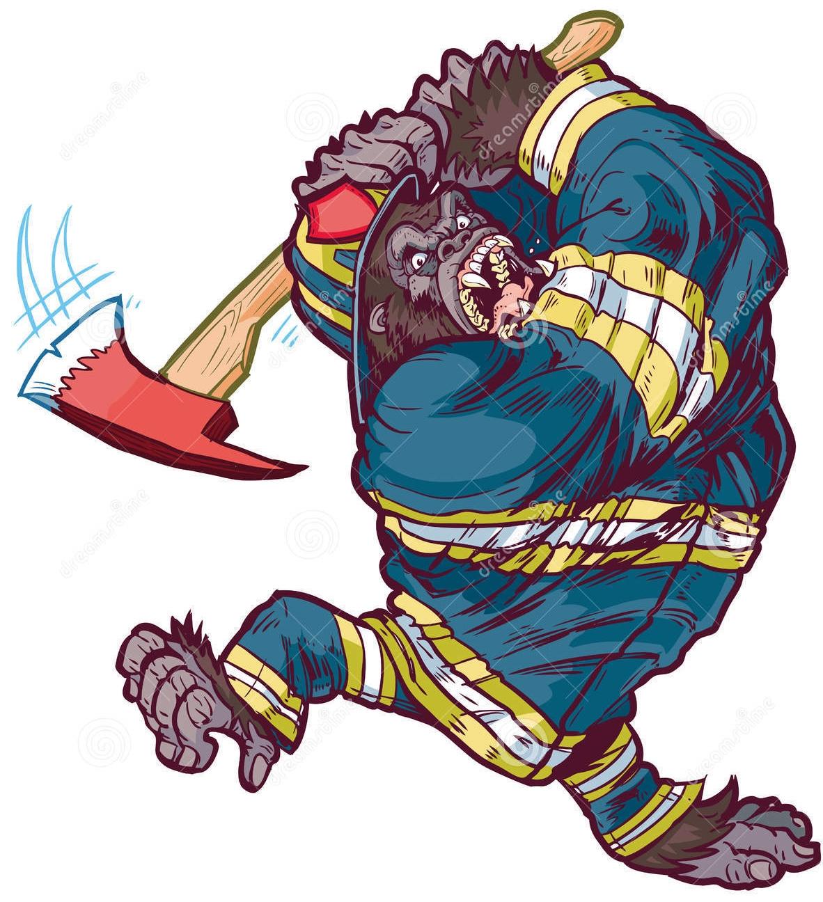 1182x1296 Gorilla Firefighter Fir Na Tine Firefighter