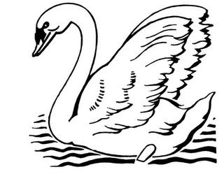 Swan Clipart Black And White
