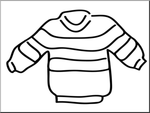 304x229 Clip Art Basic Words Sweater Bampw Unlabeled I Abcteach