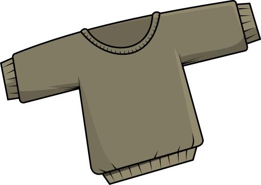 510x361 Free Light Brown Sweater Clip Art