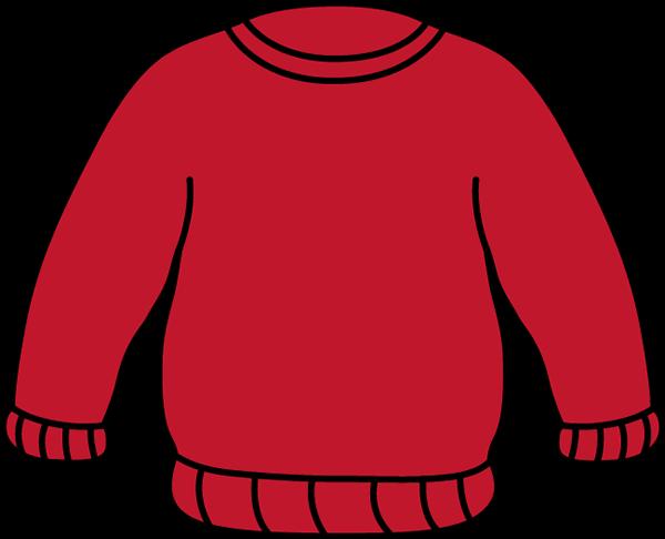 600x486 Red Sweater Clip Art