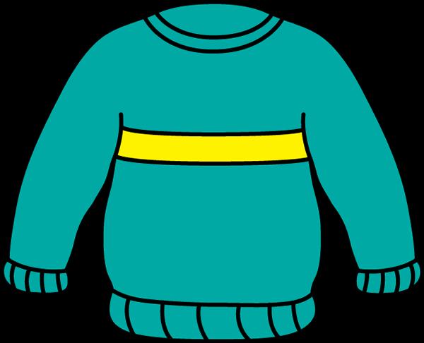 600x486 Striped Sweater Clip Art
