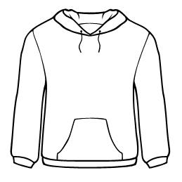 259x259 Sweater Outline Clip Art