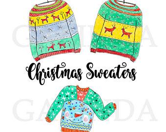 340x270 Sweaters Clip Art Etsy