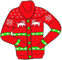 Ugly christmas sweater red. Clipart free download best