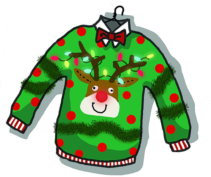Ugly christmas sweater traditional. Clipart free download best