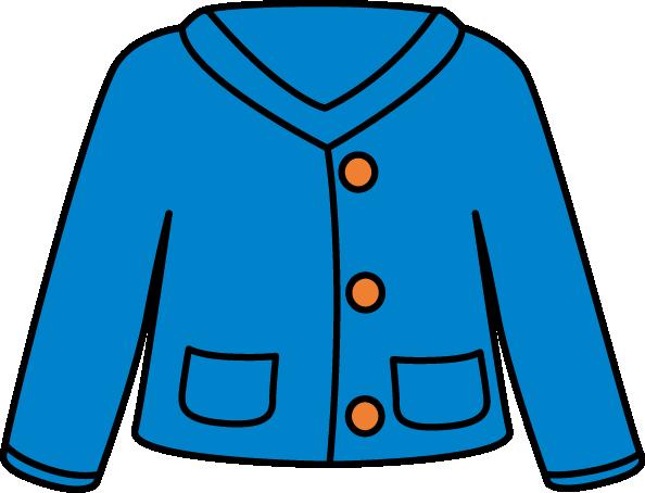 594x454 Blue Cardigan Clip Art