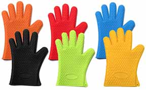288x179 New 100% Silicone Grill Gloves