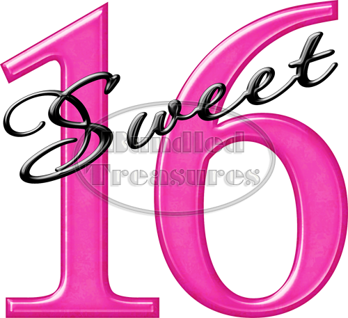 Sweet 16 Clipart Free Download Best Sweet 16 Clipart On