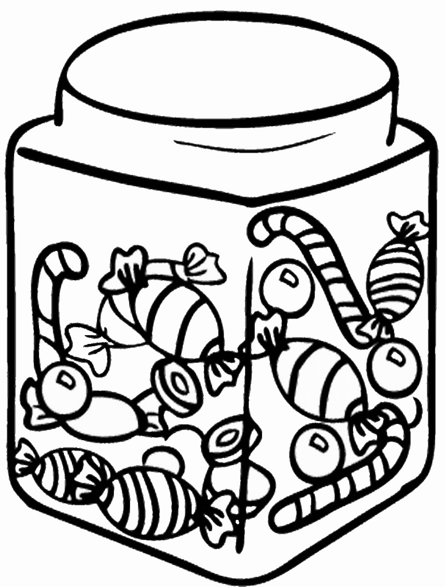 Candy jar clip art print coloring pages ~ Sweets Pictures   Free download best Sweets Pictures on ...