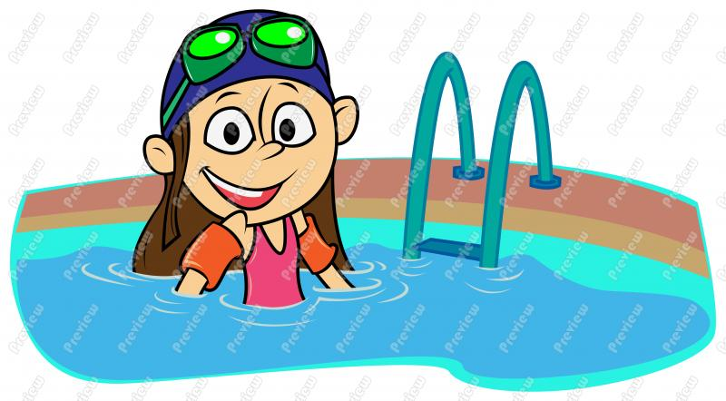 800x442 Pool Clipart Woman Swimming