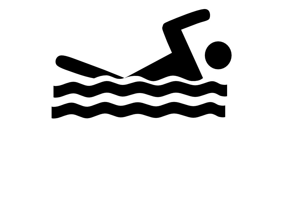 1000x700 Swimming Clipart Black And White