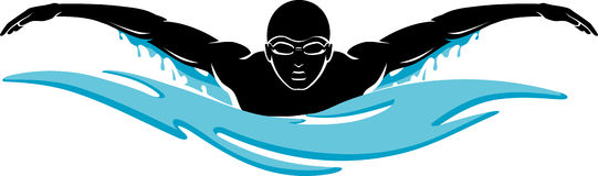 541x160 Swimming Clip Art