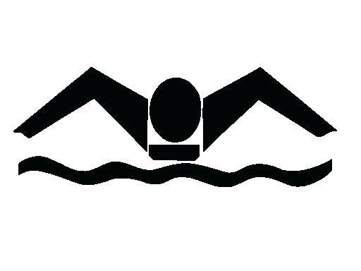 512x384 Swim Clipart Teenage Girl In A Swim Suit Holding Surf Board Waving