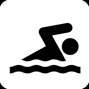 300x300 Swimmer White Clip Art