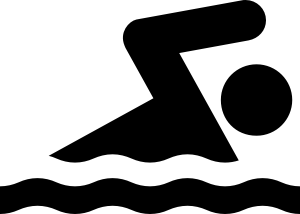 600x428 Black Swim Clip Art