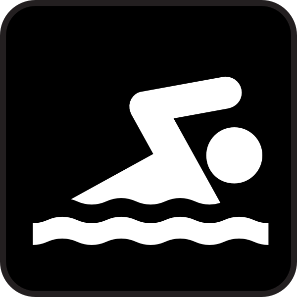 600x600 Swimming Clip Art