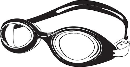 500x258 Swimming Clipart Swimming Goggles