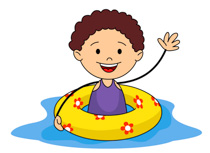 210x153 2 Girls And 1 Boy Swimming Clipart