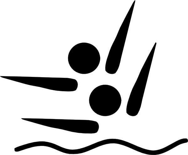 600x496 Olympic Sports Synchronized Swimming Pictogram Clip Art Free