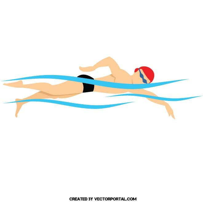 660x660 Swimming Vector Illustration. Sports Free Vectors