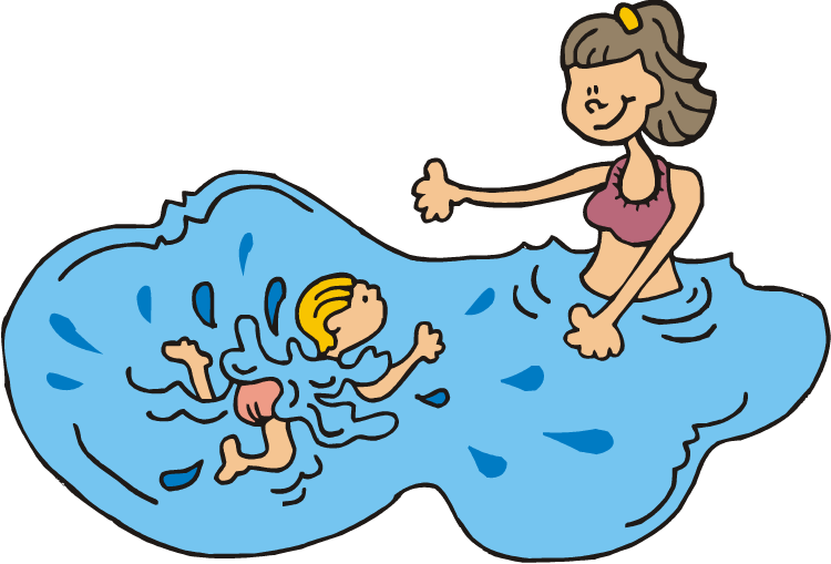 750x509 Swimming Teacher Clipart
