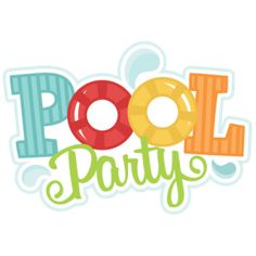 236x236 Winter Pool Party Clip Art