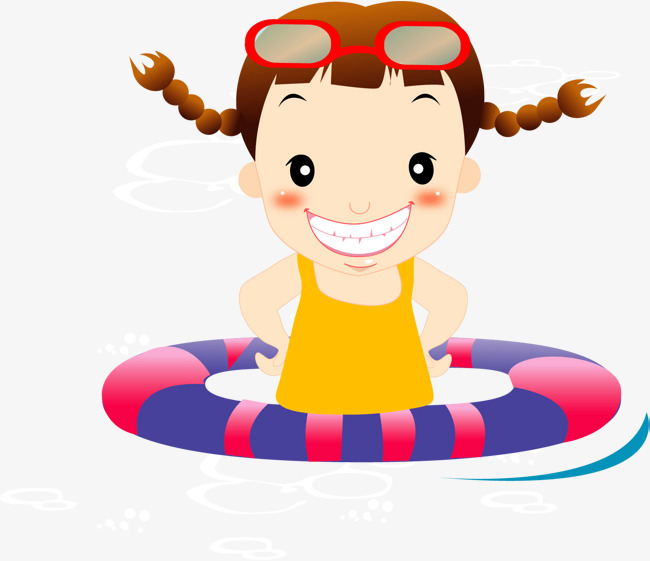 650x561 Cartoon Baby Swimming Pool Swimming, Cartoon, Girl, Swim Png