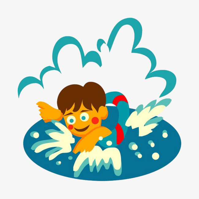 650x651 Cartoon Man Swimming, Cartoon Man, Movement, Swim Png Image