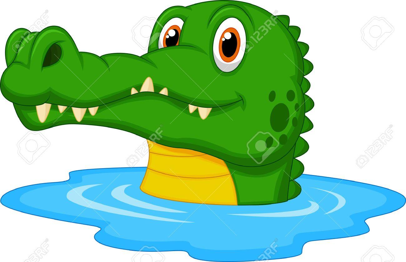 1300x841 Cute Crocodile Cartoon Swimming Royalty Free Cliparts, Vectors
