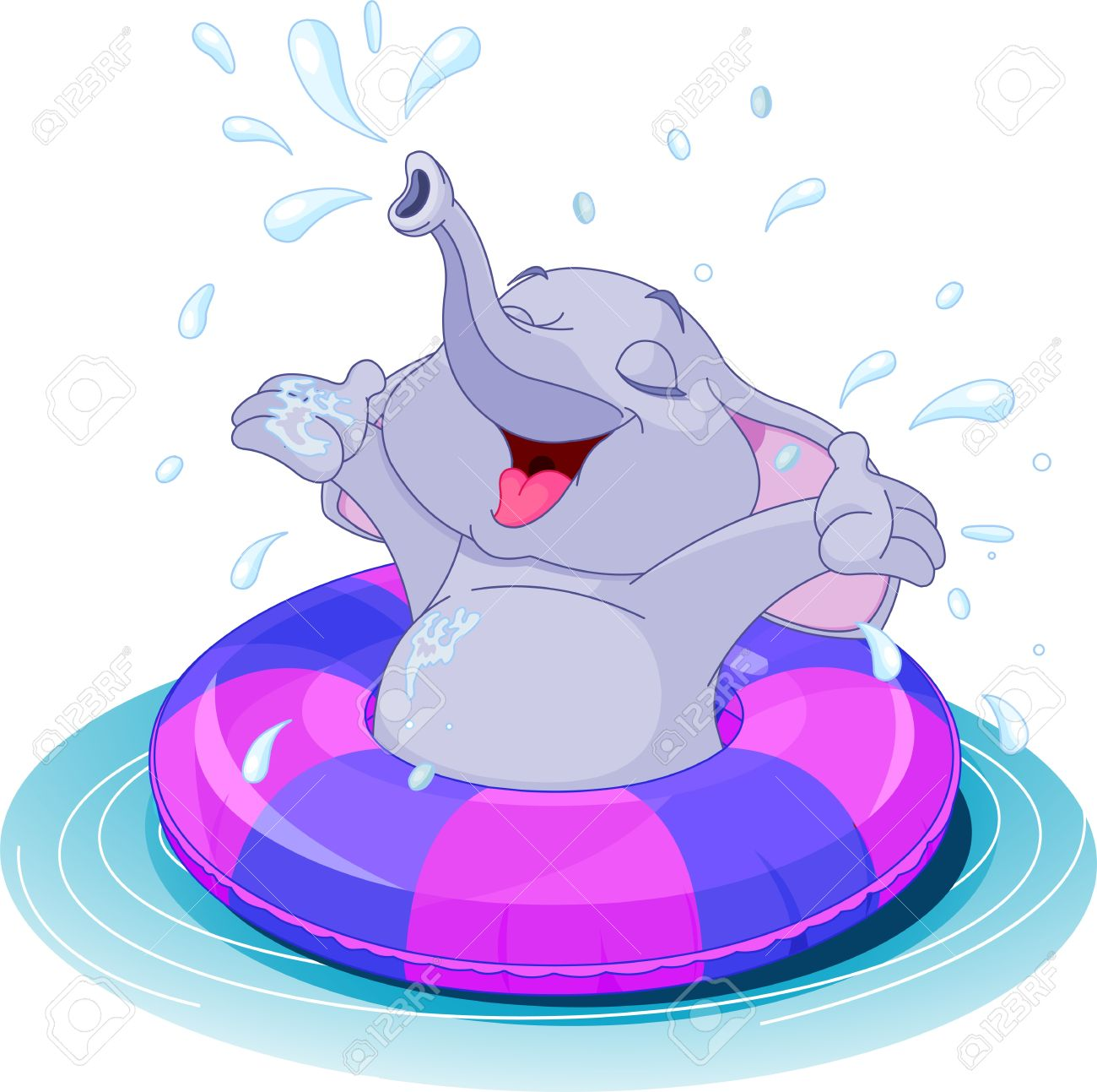 1300x1293 Animal Swimming Clipart